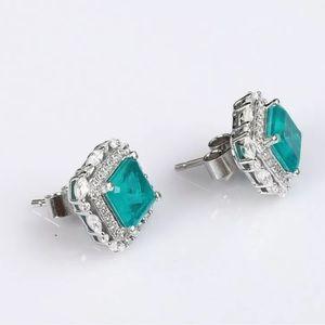 Vintage Jewelry - Sultan Paraiba Tourmaline Sterling Silver Earrings